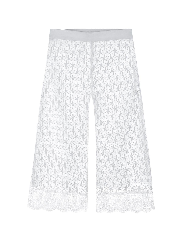 Белые кружевные брюки Ermanno Scervino детские фото