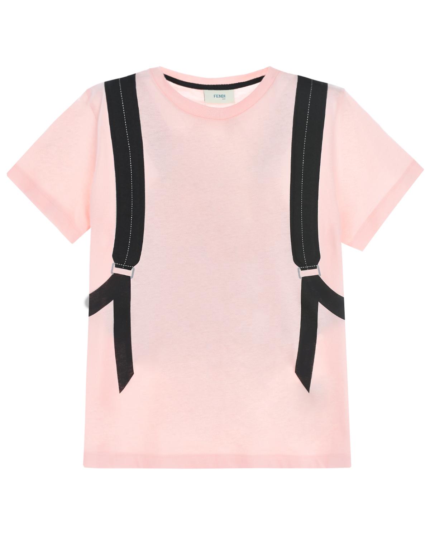 рюкзак с принтом fendi для девочки