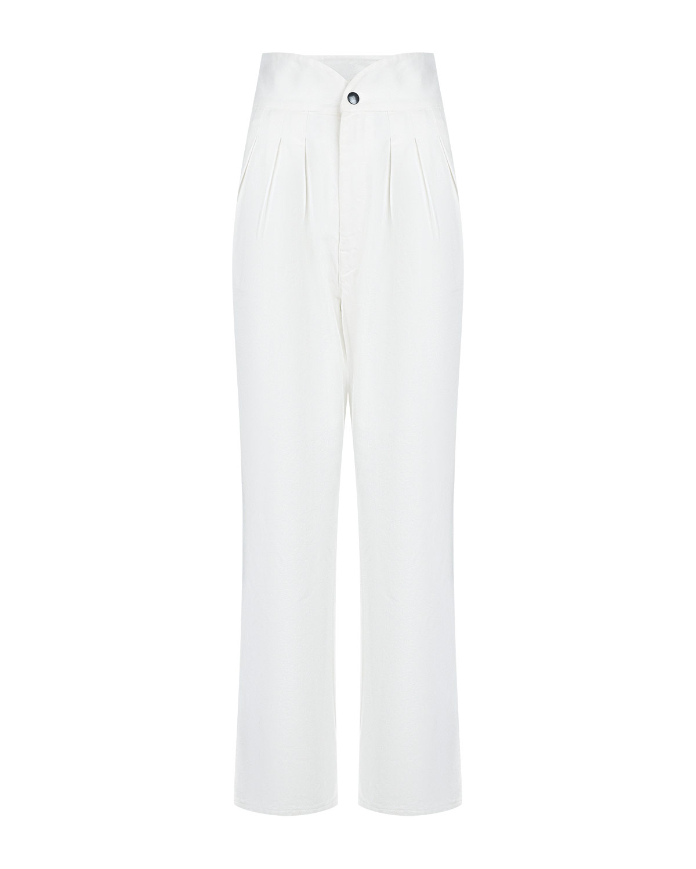 Белые джинсы с высокой посадкой Forte dei Marmi Couture.