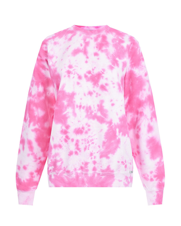 Розовый свитшот в стиле тай-дай Forte dei Marmi Couture.