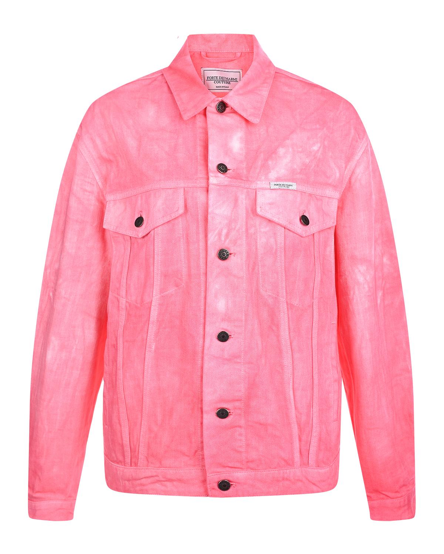 Розовая джинсовая куртка Forte dei Marmi Couture.