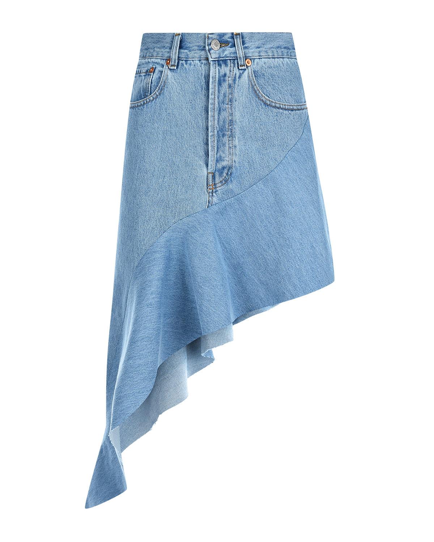 Асимметричная джинсовая юбка Forte dei Marmi Couture.