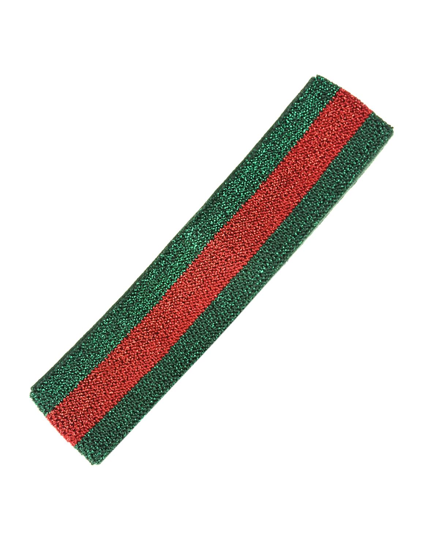 Купить Повязка в красно-зеленую полоску GUCCI детская, Мультиколор, 85%вискоза+10%эластодиен+3%металлизированное волокно+2%полиамид