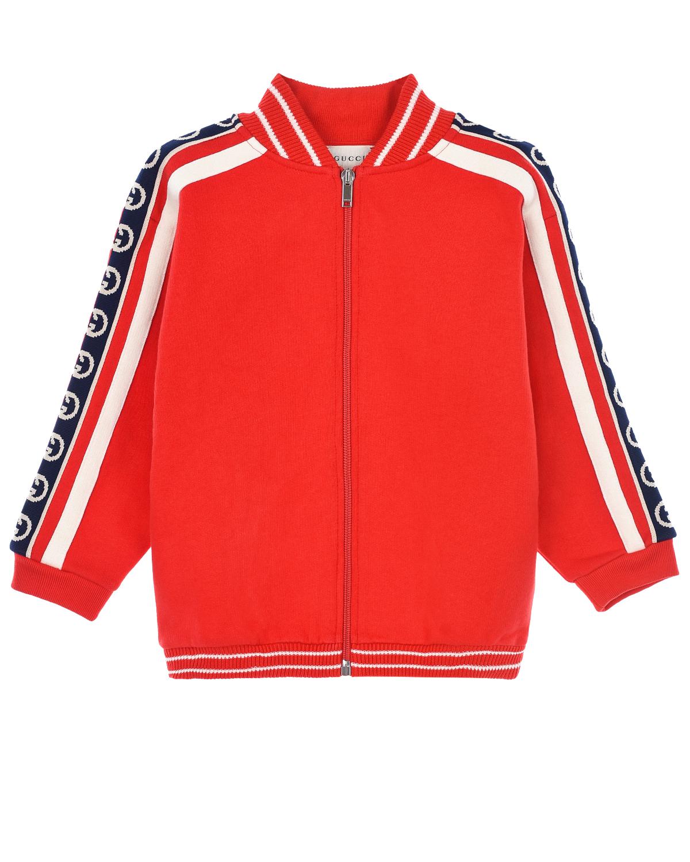 Купить Красная спортивная куртка с лампасами GUCCI детская