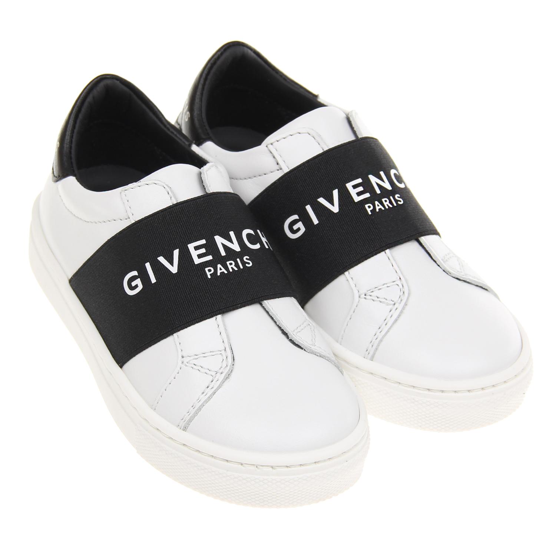 Белые кеды без шнурков Givenchy детские