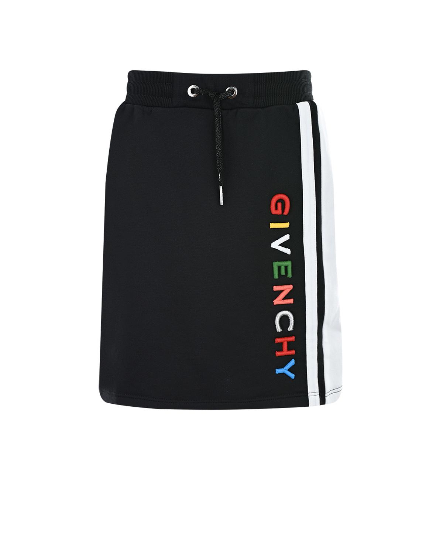 Купить Черная юбка с лампасом Givenchy детская