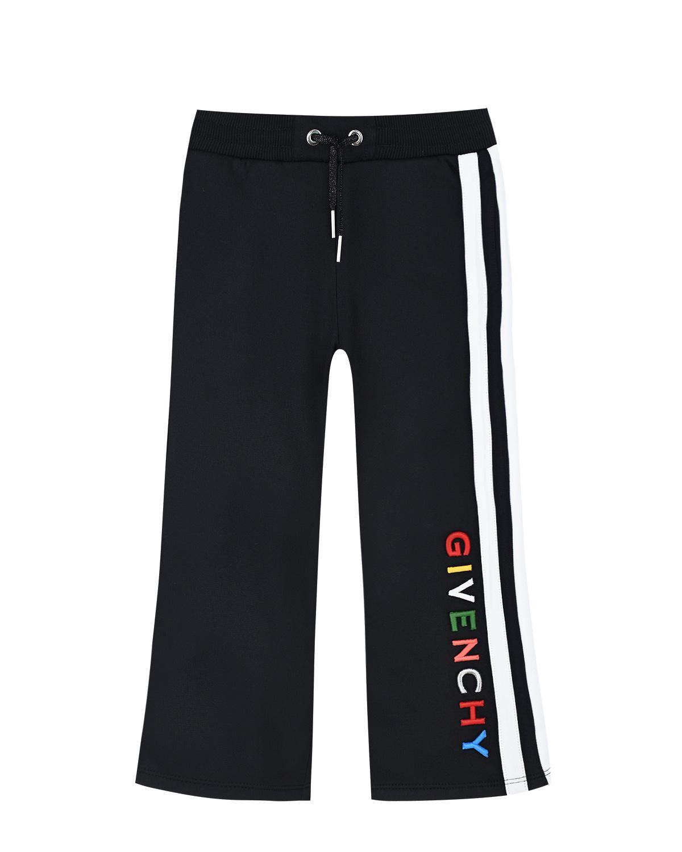 Купить Спортивные брюки с вышитым логотипом Givenchy детские, Черный, 98%хлопок+2%эластан, 86%хлопок+14%полиэстер, 61%полиамид+39%хлопок