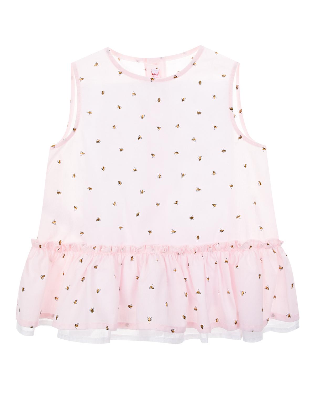 Купить Розовое платье с принтом пчелы IL Gufo детское