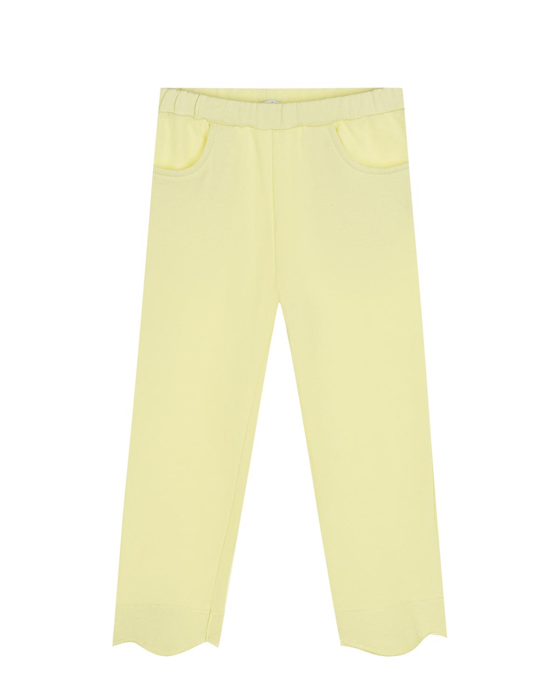 Купить Желтые спортивные брюки с карманами IL Gufo детские, Зеленый, 100%хлопок