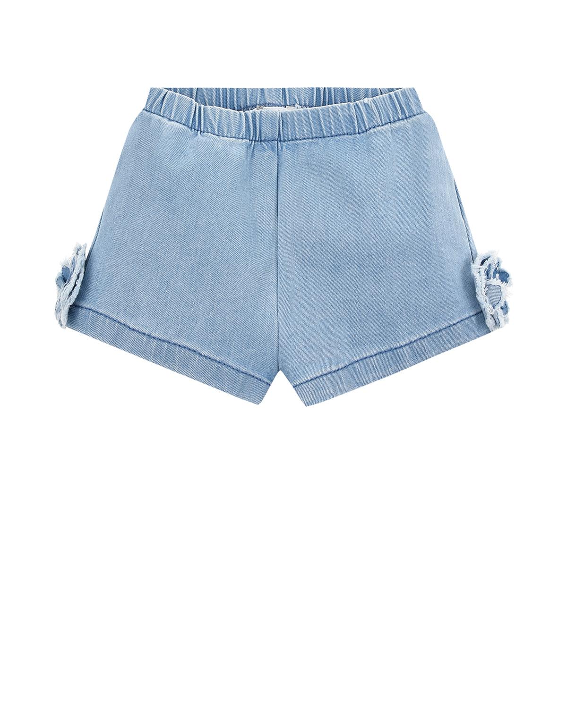 Купить Голубые джинсовые шорты IL Gufo детские, Голубой, 97%хлопок+3%эластан