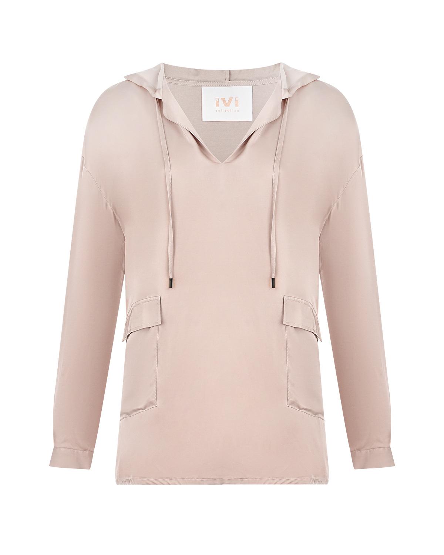 Розовый блузон с капюшоном IVI фото