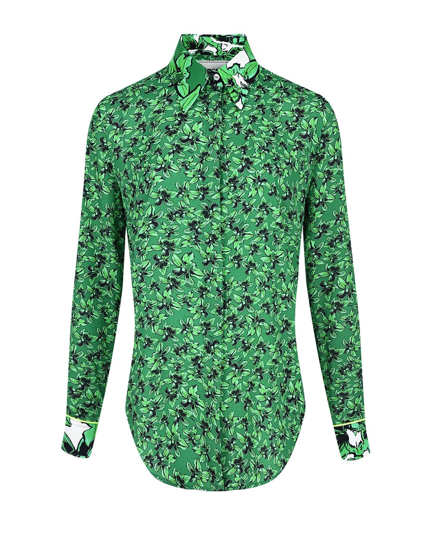 Зеленая рубашка с цветочным принтом Iceberg фото