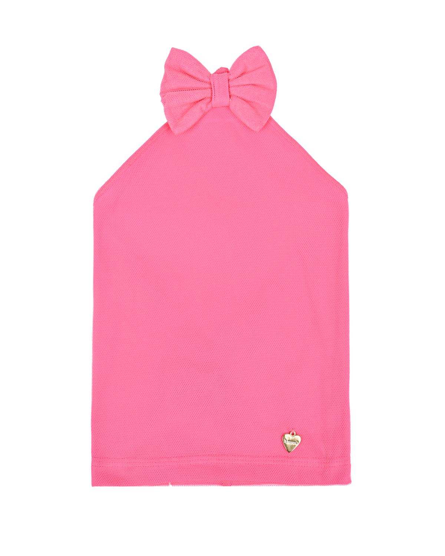 Купить Розовая косынка с бантом Il Trenino детская, Нет цвета, 95%хлопок+5%эластан
