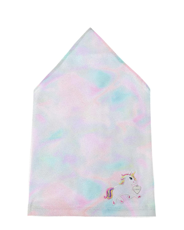 Купить Косынка с акварельным принтом Il Trenino детская, Нет цвета, 95%хлопок+5%эластан