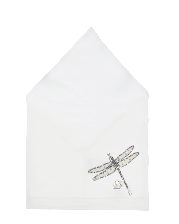 Купить Косынка с серебристой стрекозой Il Trenino детская, Нет цвета, 95%хлопок+5%эластан
