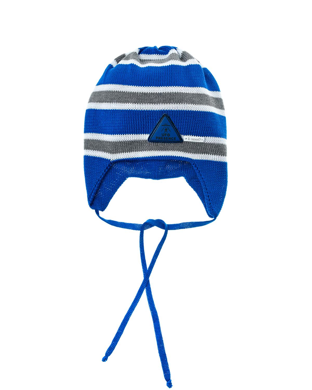Купить Трикотажная шапка с узором в полоску Il Trenino детская, Нет цвета, 100%хлопок