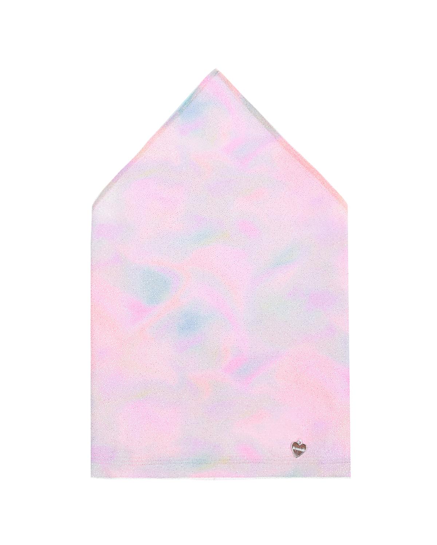 Купить Косынка с принтом тай-дай и декоративной сеткой Il Trenino детская, Нет цвета, 95%хлопок+5%эластан