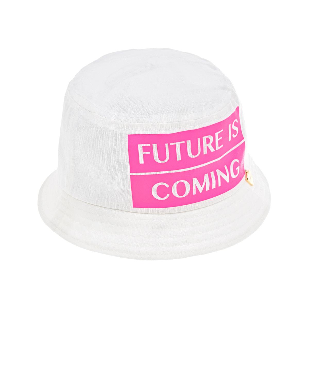 Купить Панама с принтом Future is coming Il Trenino детская, Нет цвета, 52%хлопок+48%лен