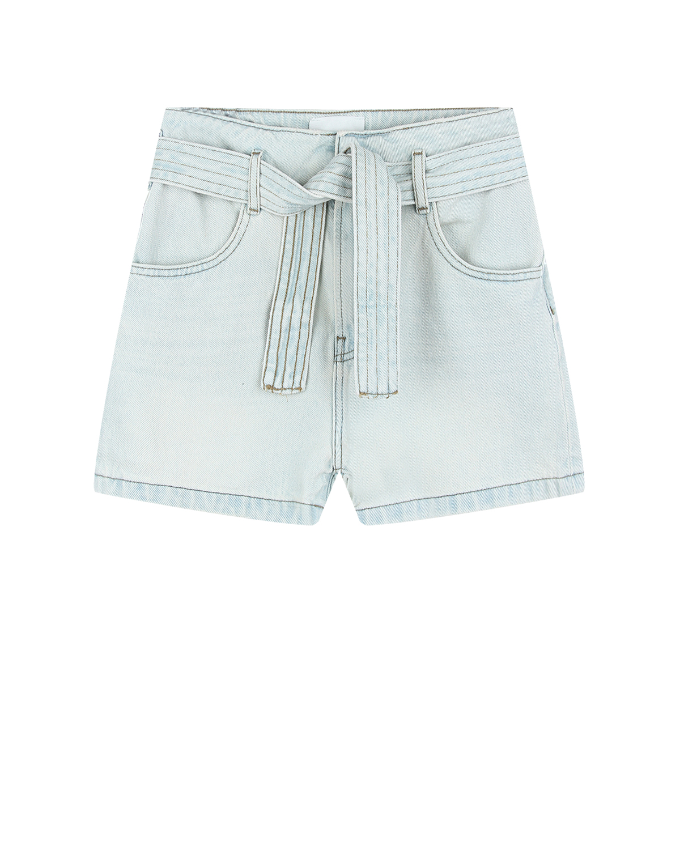 Купить Голубые джинсовые шорты с поясом Les Coyotes de Paris детские, Голубой, 100%хлопок
