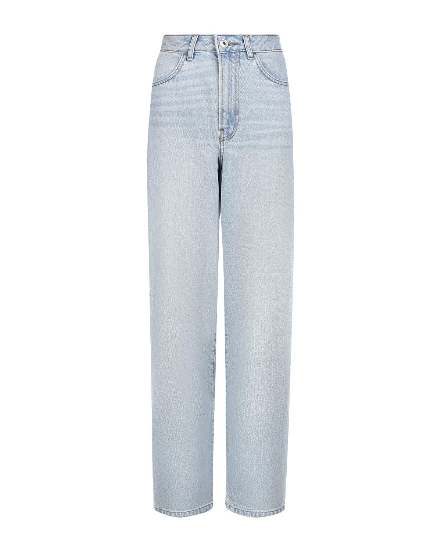 Купить Голубые джинсы Mom fit Les Coyotes de Paris, Голубой, 100%хлопок
