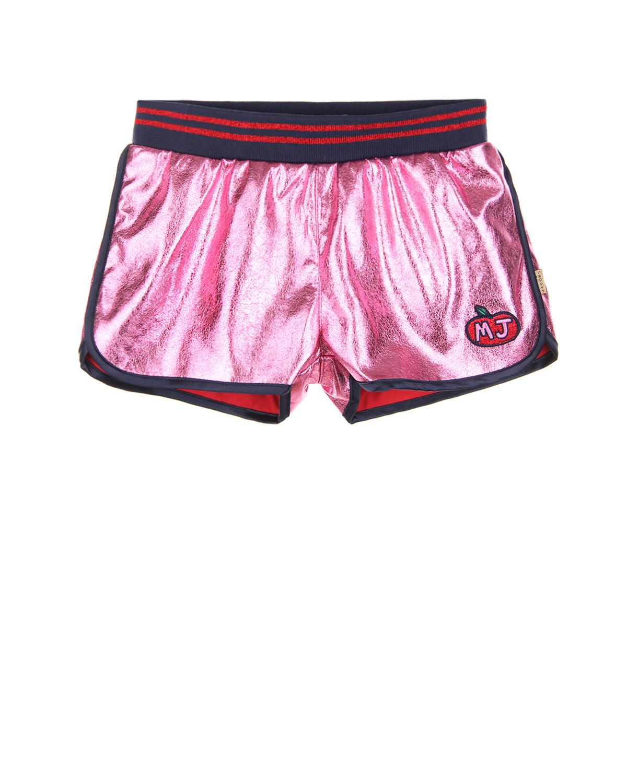 Розовые шорты с эластичным поясом Little Marc Jacobs детские фото