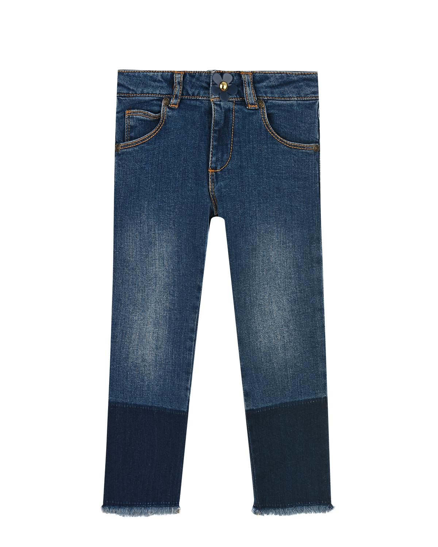 Синие джинсы с бахромой Little Marc Jacobs детские фото