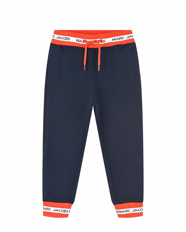 Купить Синие спортивные брюки Little Marc Jacobs детские, Синий, 100%хлопок, 86%хлопок+12%полиэстер+2%эластан