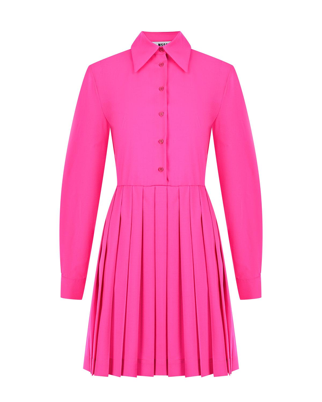 Купить Платье с плиссированной юбкой MSGM, Нет цвета, 100%шерсть