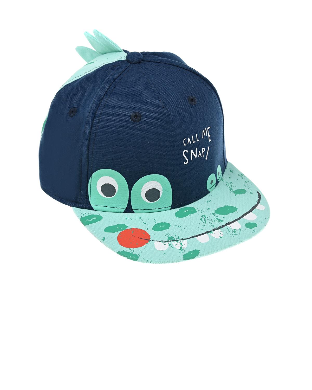 Купить Хлопковая бейсболка Дино MaxiMo детская, Синий, 100%хлопок