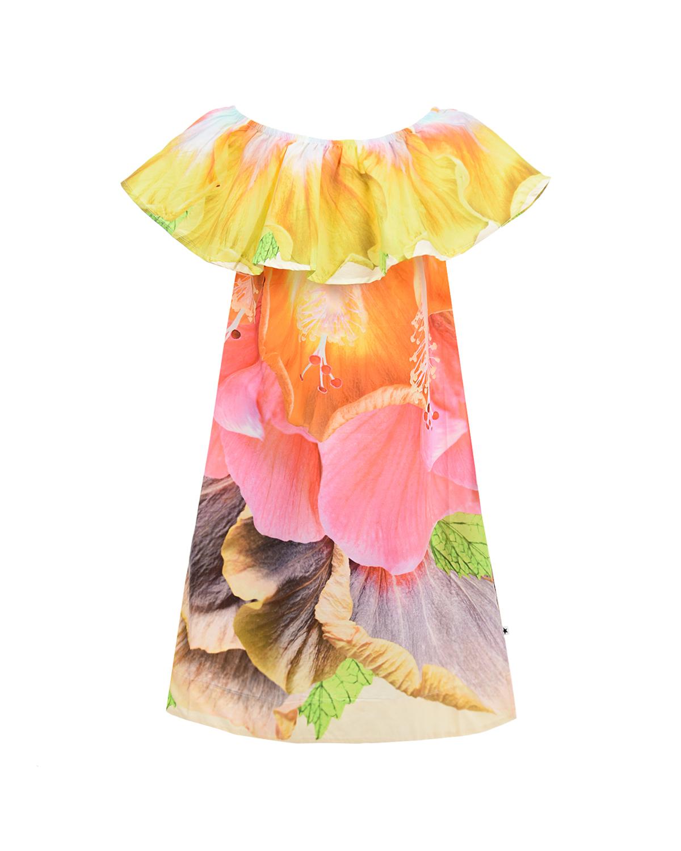 Платье с оборкой Cheris I am Hibiscus Molo детское фото