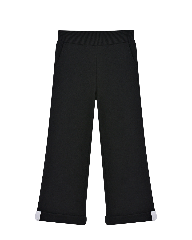 Черные спортивные брюки с принтом Minnie Mouse Monnalisa детские фото
