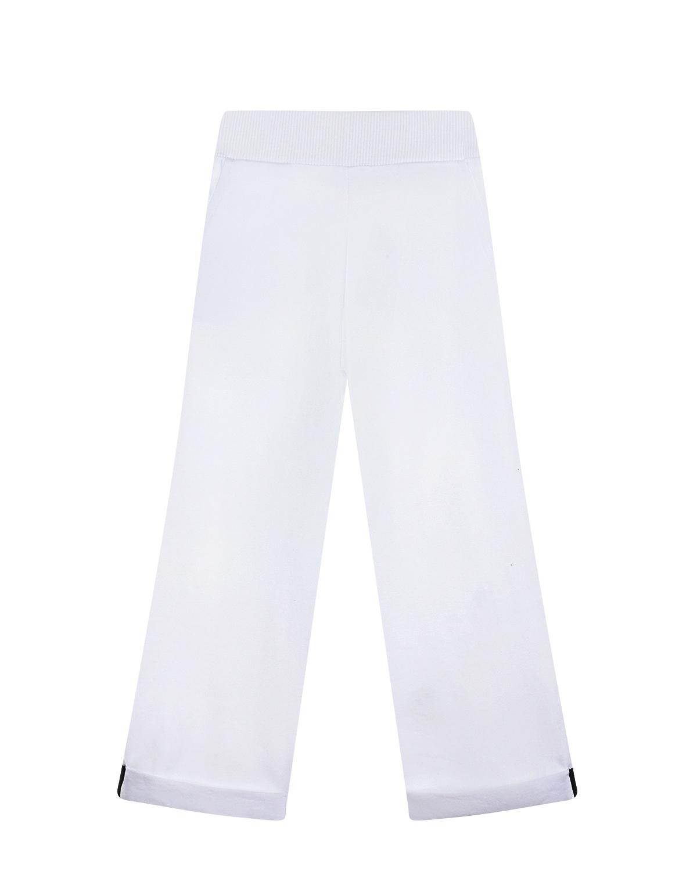 Белые спортивные брюки с принтом Minnie Mouse Monnalisa детские фото