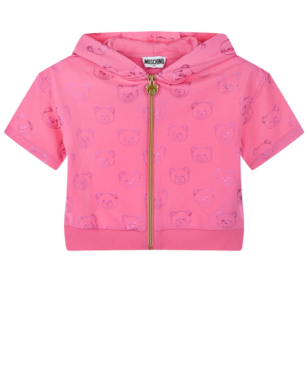 Спортивная куртка с логотипом в тон Moschino детская фото