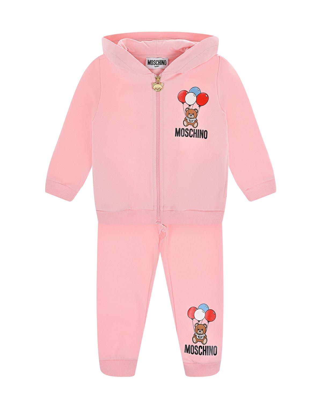 Купить Розовый спортивный костюм Moschino детский, 95%хлопок+5%эластан