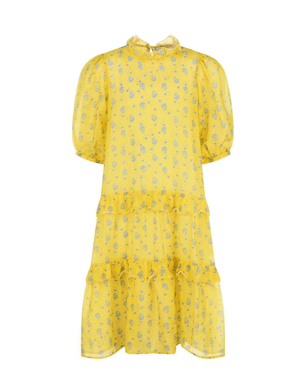 Желтое платье с рукавом 3/4 Paade Mode детское фото