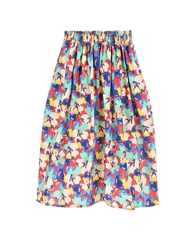 Хлопковая юбка с ярким принтом Paade Mode детская фото