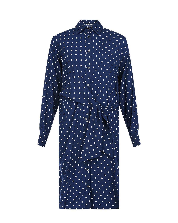 Синее платье-рубашка Parosh фото