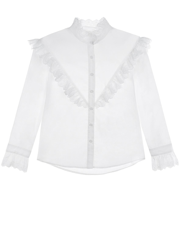 Купить Рубашка с отделкой кружевом Philosophy детская, Белый, 100%хлопок