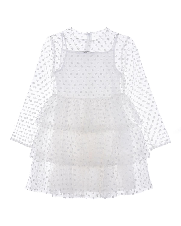 Купить Пышное платье с вышивкой Philosophy детское, Белый, 100%полиамид, 100%хлопок