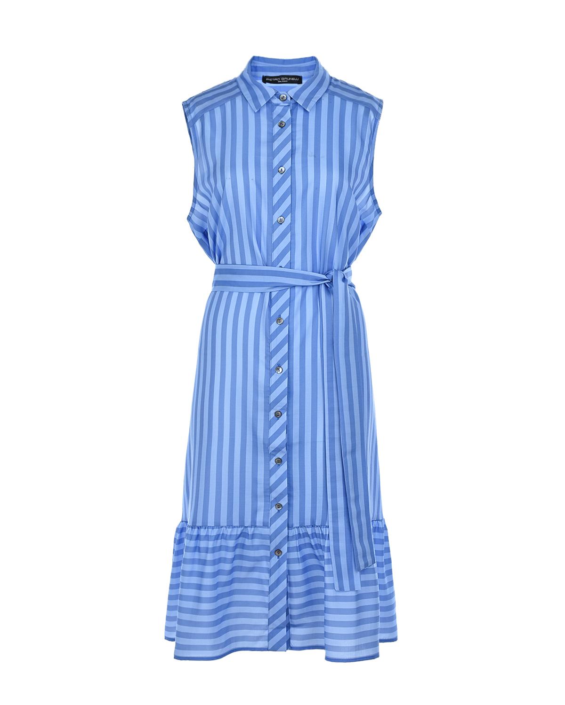 Купить Платье для беременных в полоску Pietro Brunelli, Голубой, 100%лиоцелл, 79%хлопок+18%полиамид+3%эластан