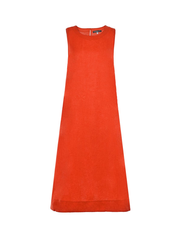 Льняное платье красного цвета Pietro Brunelli фото