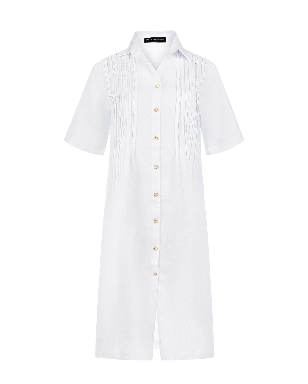 Белое платье для беременных Celestre Pietro Brunelli белого цвета