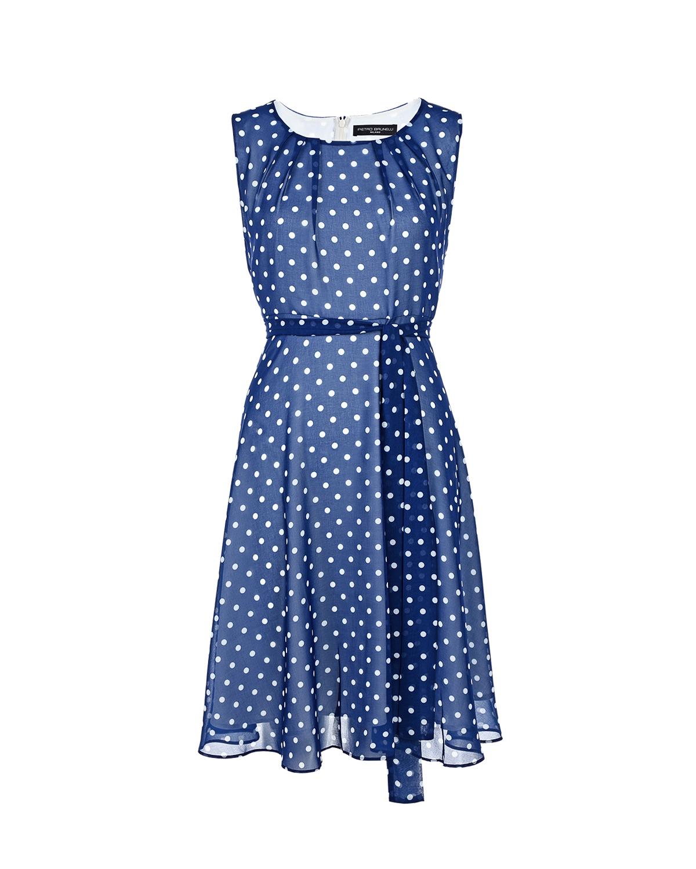 Синее платье в горошек Pietro Brunelli фото