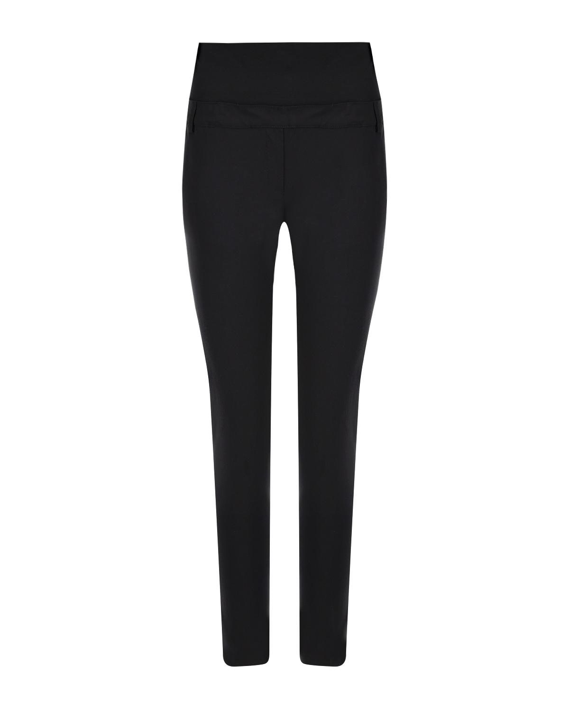 Черные брюки для беременных длиной 7/8 Pietro Brunelli черного цвета