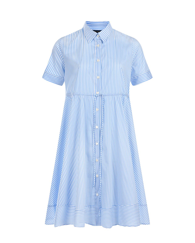 Платье Ortensia в бело-голубую полоску Pietro Brunelli фото