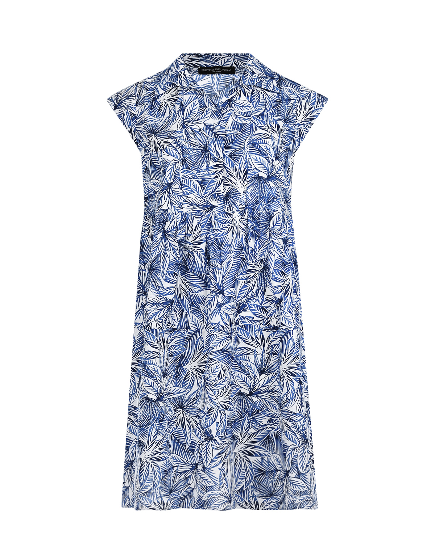 Купить Платье для беременных с принтом листья Pietro Brunelli, Белый, 55%лен+45%хлопок