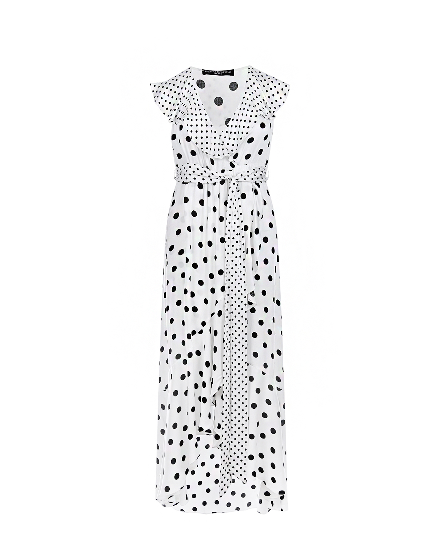 Белое платье для беременных в черный горошек Pietro Brunelli белого цвета