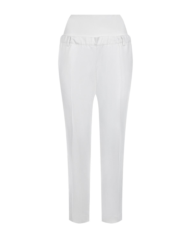 Белые брюки для беременных Pietro Brunelli белого цвета