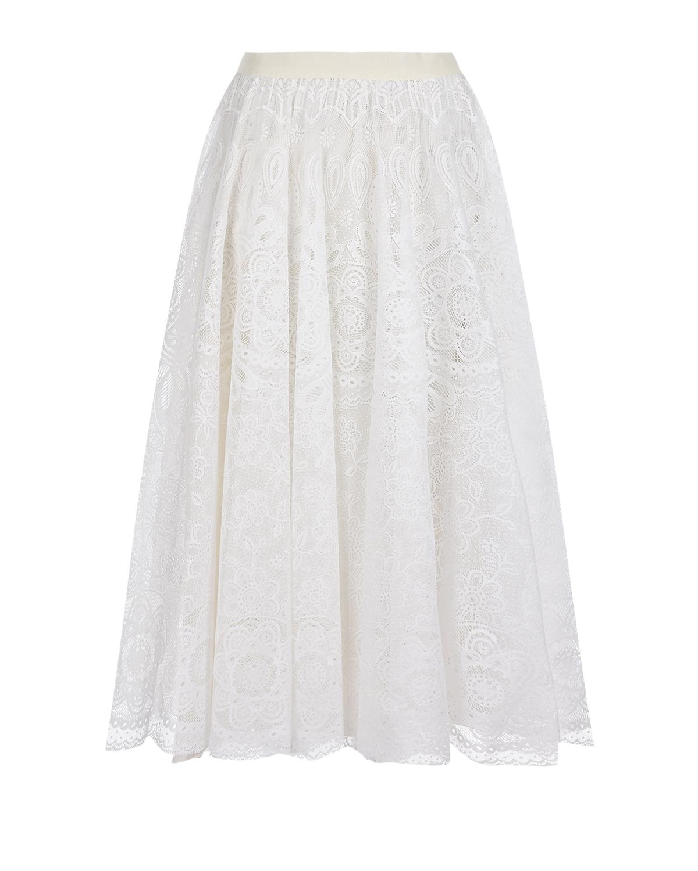 Белая кружевная юбка Red Valentino фото