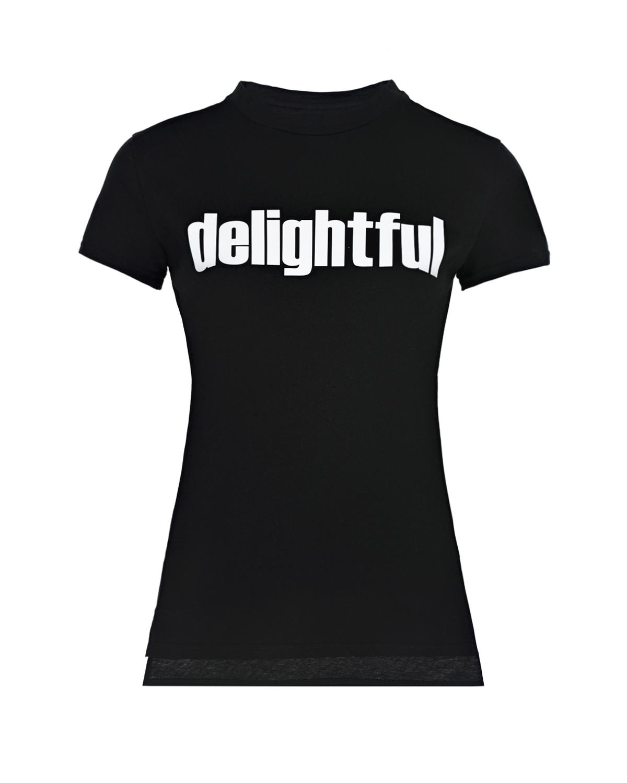 Купить Черная футболка с принтом Delightful Scrambled Ego детская, Черный, 100%хлопок